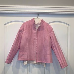 EP Pro Pink Quilted Jacket and Mock Neck Shirt